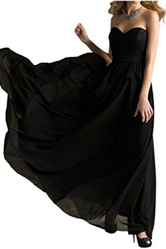 Victory Bridal - Robe - Trapèze - Femme Noir - Noir
