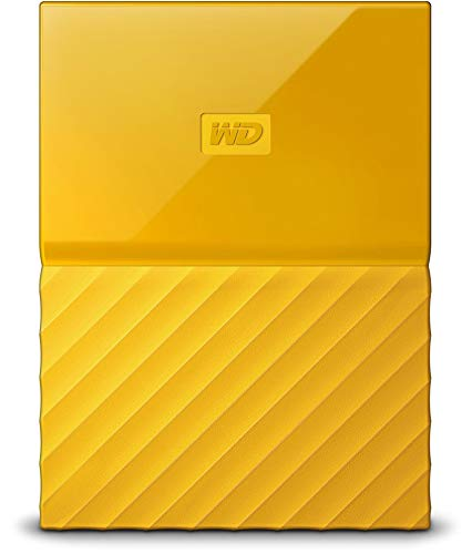 WD My Passport - Disco Duro Portátil de 3 TB y Software de Copia de Seguridad Automática, Amarillo