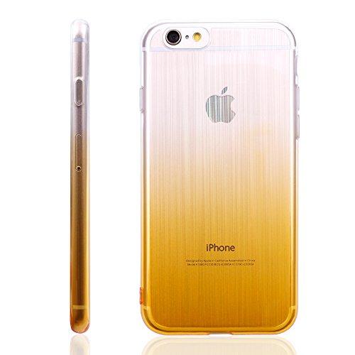iProtect TPU Schutzhülle Apple iPhone 6, 6s Soft Case in matt Rosa Hologram Gelb