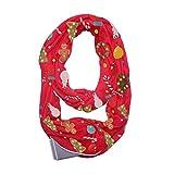 Schal,Sasstaids Frauen Weihnachten Print Convertible Infinity Schal Pocket Reißverschluss Pocket Schals