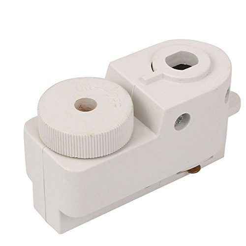 DealMux 2-Wire Guide Rail Connector Track Box Shell Lighting Fittings White (Box Rail-track)
