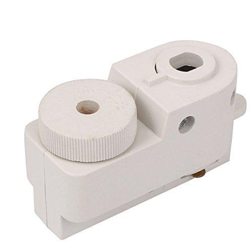 DealMux 2-Wire Guide Rail Connector Track Box Shell Lighting Fittings White - Guide Rail Connector