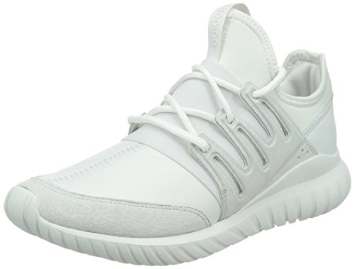 adidas Tubular Radial, Chaussures de Fitness Homme, One Size Blanc (Crystal White/Crystal White/Crystal White)