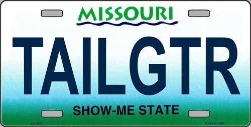 Ganheuze Missouri State Background License Plate Aluminum Metal Sign 6 X 12 (License Missouri Plate)