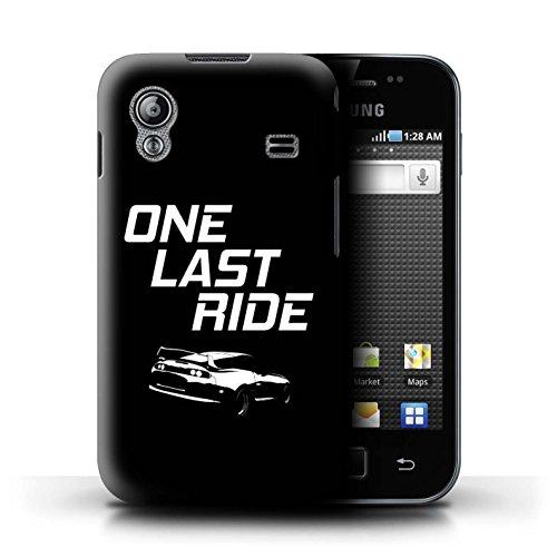 Stuff4 Custodia/Cover/Caso/Cassa Rigide/Prottetiva Stampata con Il Disegno Corse Automobilistiche Strada per Samsung Galaxy Ace - One Last Ride