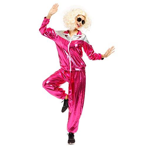 Retro Kostüme (Karneval 80er Jahre Kostuem Trainingsanzug Retro Training Anzug Jogginganzug Assianzug Jogging Jacke Hose fuer)