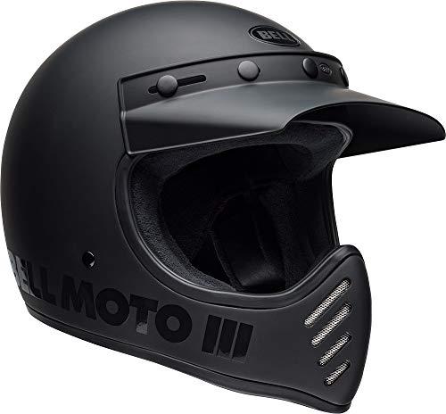 Bell Helmets Casco Moto 3 Matte Black Off Road Vintage Size L