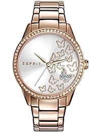Esprit–tp10908or rose montre bracelet à quartz analogique en acier inoxydable es109082002