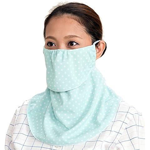 yake-nu Máscara de protección solar UV para cara, el cuello.