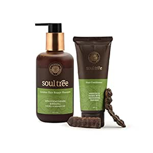 SoulTree Licorice Hair Repair Shampoo, 250ml with Hibiscus Hair Conditioner, 100gm - Value Pack