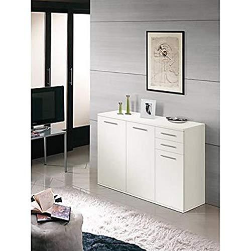 Valentini  nettuno mobile 3 ante e 2 cassetti, bianco, 36 x 120 x 82 cm