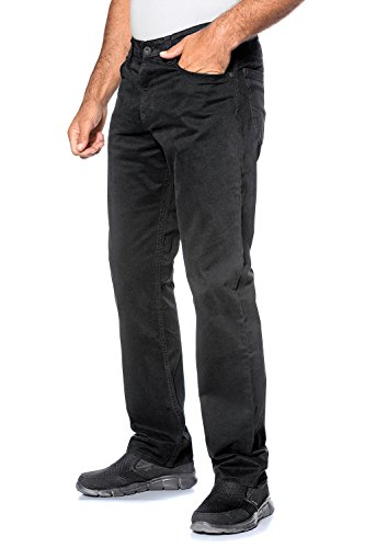 JP 1880 Herren große Größen bis 64 | Hose in schwarz | Stretch Baumwolle | Regular Fit | 5-Pocket-Form | Elastischer Bund | schwarz 62 702613 10-62 (Herren Elastische Hose)