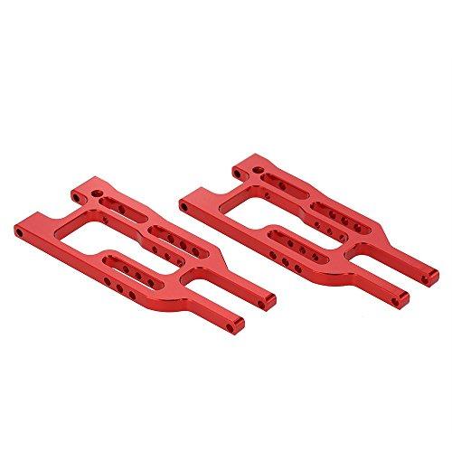 1/10 Bras de Suspension Avant Inférieur Pièces de Mise à Niveau en Alliage d'Aluminium pour HSP RC Voiture - Rouge