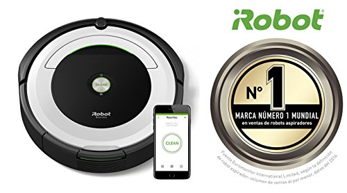 iRobot Roomba 691   Robot aspirador  potente sistema de limpieza con sensores de suciedad Dirt Detect  aspira alfombras y suelos duros  atrapa el pelo de mascotas  conectividad WiFi  color plata