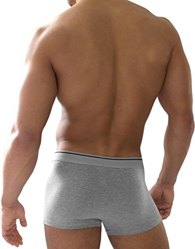 6 x normani® Herren Boxershorts aus Baumwolle mit Elasthan Grau
