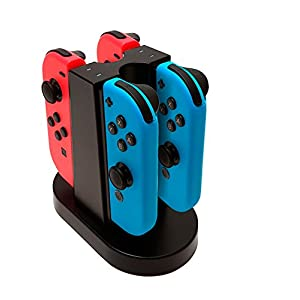 BigBen Nintendo Switch – Quad Charging Station für Joy-Con Controller / Ladestation für 4 Joy-Con Controller