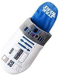 Disney oficial de Star Wars para hombre, diseño de R2D2 Droid Mule Pantuflas suela antideslizante