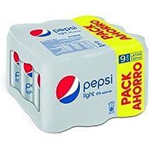 Pepsi Light refresco - Pack de 9 x 33 cl - Total: 2970 ml