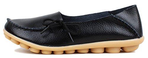 Kunsto Loafer Flats, Mocassini donna Nero