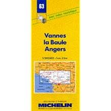 Carte routière : Vannes - La Baule - Angers, 63, 1/200000