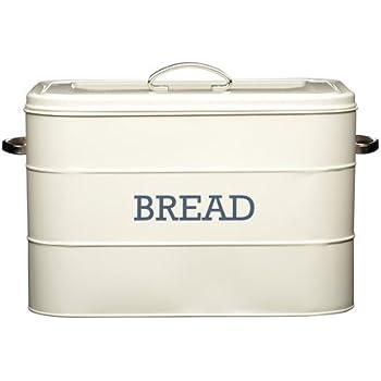 Kitchencraft Living Nostalgia Large Metal Bread Box Bin Antique