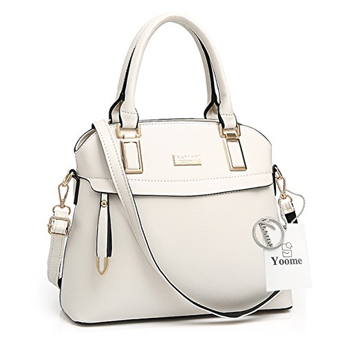 Sacchetti eleganti per la borsa della borsa della borsa della borsa della borsa della borsa del sacchetto della borsa della tela di Yoome Street Top - Bianco bianca