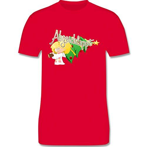 Weihnachten - Abgeschleppt - Christbaum - L190 Herren Premium Rundhals T-Shirt Rot
