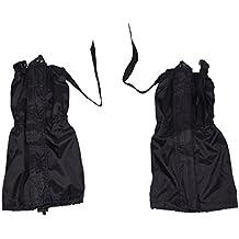 TOOGOO (R) Par Polaina Impermeable Transpirable Negro Nylon Camping