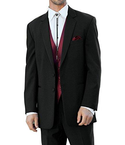 Suit Me 3 pi¨¨ces pour homme costume deux boutons revers cran vestes de costume de smoking Blazers Pantalons Rouge