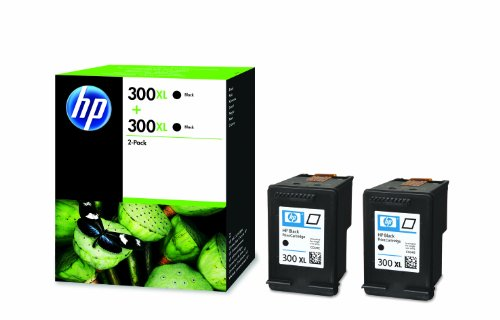 HP D8J43AE Original Ink Cartridge 300XL, Twin Pack, 600 Seiten, nero (Imballaggio apertura facile)