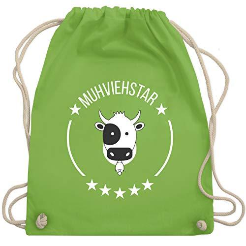 Shirtracer Landwirt - Muhviehstar - Unisize - Hellgrün - WM110 - Turnbeutel und Stoffbeutel aus Bio-Baumwolle