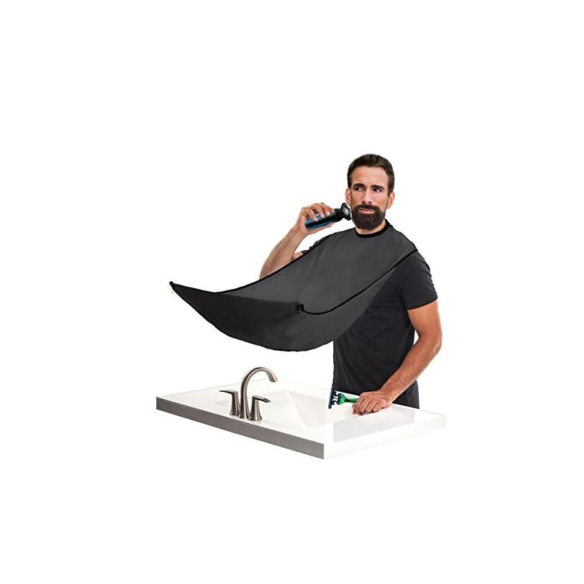Bart Schürze für Bartgestaltung- Sammel Tuch für Haare-Bart 1