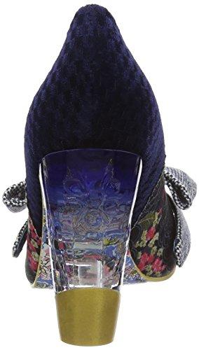 Irregular Choice Bowtina, Escarpins femme Bleu - Blue (Blue Floral)