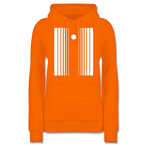 Karneval & Fasching - Doppler Effekt - L - Orange - JH001F - Damen Premium Kapuzenpullover / (Effekt Damen Doppler Kostüm)