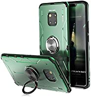 Jonwelsy Case for Huawei Mate 20 Pro, Shockproof Soft Silicone + Aluminum Alloy Armor Cover with 360 Degree Ro