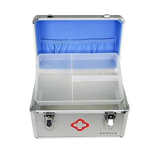 Schmuckkästchen Mizii Medizinische Notfall-Box Haushalts-Aluminium-Legierung Schloss Medizinische Ausrüstung Fabrik Erste-Hilfe-Medizin-Box Multi-Layer-Aufbewahrungsbox (größe : L)