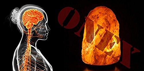 Onex Sel de l'himalaya Guérison ionisation Meilleure qualité de Nuit Lampe de Bureau en Impressionnante Tailles, Rose, 23 x 10 x 25 cm
