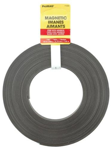 """Magnum Magnetics Corp Adesivo Striscia Magnetica,-1/2 """"X 25'"""
