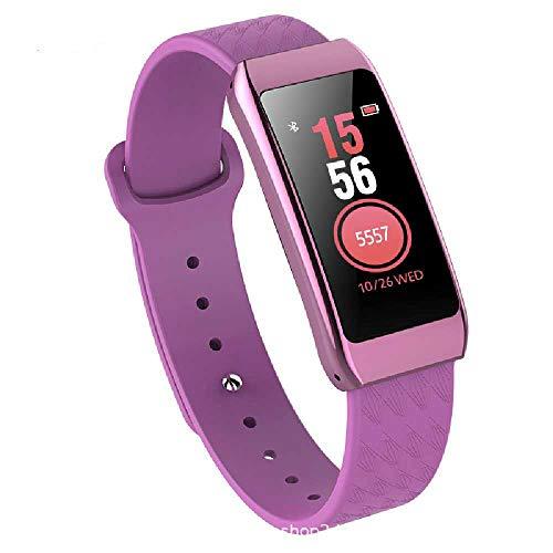 HTTXSBL Sportuhr Fitness Tracker Herzfrequenzerkennung Farbdisplay Bewegung Echtzeitüberwachung IP67 wasserdicht Violet