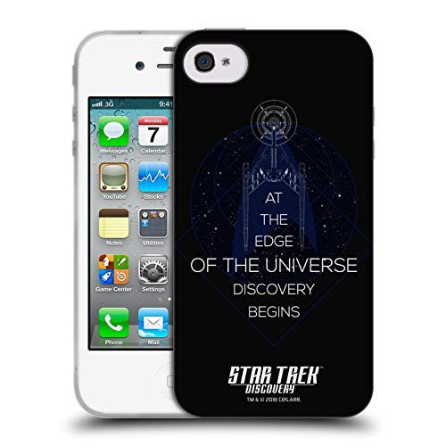 Head Case Designs Offizielle Star Trek Discovery Universum U.S.S Discovery NCC - 1031 Soft Gel Huelle kompatibel mit iPhone 4 / iPhone 4S