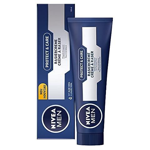 NIVEA Men, 4er Pack Rasiercreme für Männer, 4 x 100 ml Tube, Protect & Care