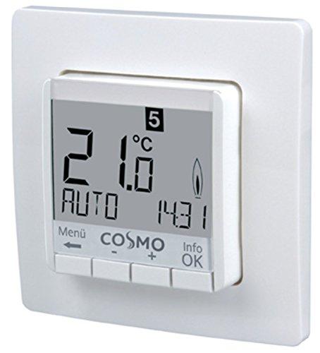COSMO Uhrenthermostat 230 V digital UP 50x50 mit Display beleuchtet - Gas-wasser-heizung-teile