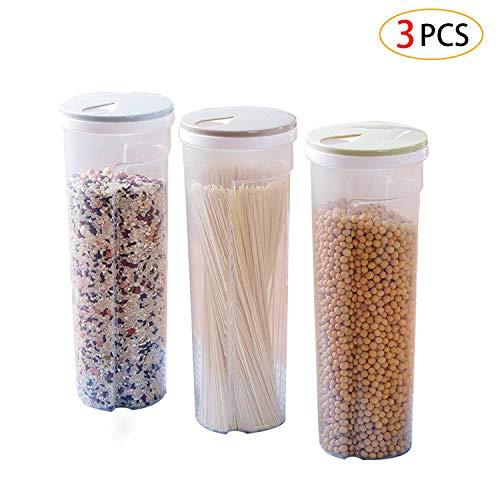3 pz contenitori alimentari ,contenitori per la conservazione degli alimenti con coperchi per la conservazione per tè,caffè,riso,pasta con airtight coperchi,2,5l(blu chiaro/verde chiaro/cachi)