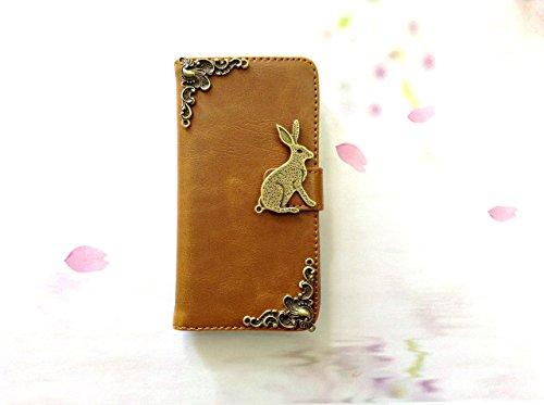 Hase Handy Leder Brieftasche Fall Handgemachte Handy