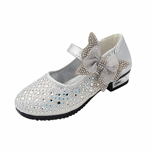 Girls Shoes FashionToddler Girls Bowknot Rhinestone Bling Sandals Party Ballet Shoes