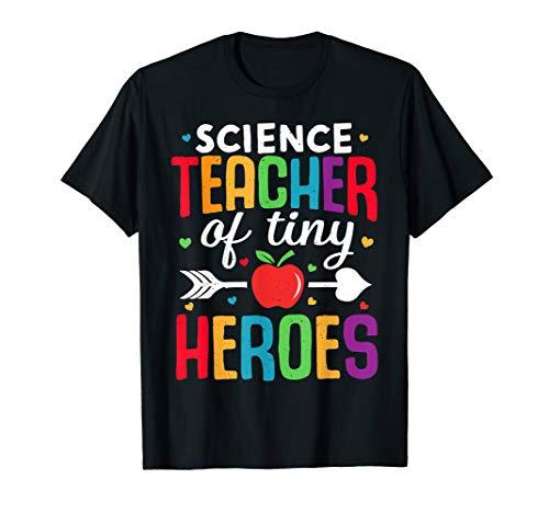 Naturwissenschaftslehrer zurück zum ersten Schultag Heroes T-Shirt