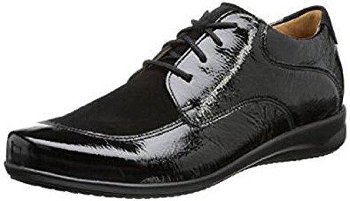 Ganter  Fiona, Chaussures de ville à lacets pour femme Noir