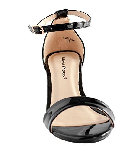 Rapidoshop - Sandales Femme à Talons Hauts JZ-2475 Escarpins Noir
