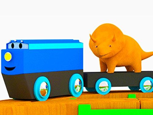 Der Zug und Dino dem Dinosaurier / Müllauto und Dino dem Dinosaurier / Monstertruck und Dino dem Dinosaurier / Zügen und Dino dem Dinosaurier