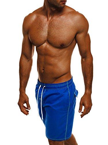 OZONEE Herren Badeshorts Kurzhose Badehose Schwimmhose Schwimmshorts Shorts MHM 245 Blau